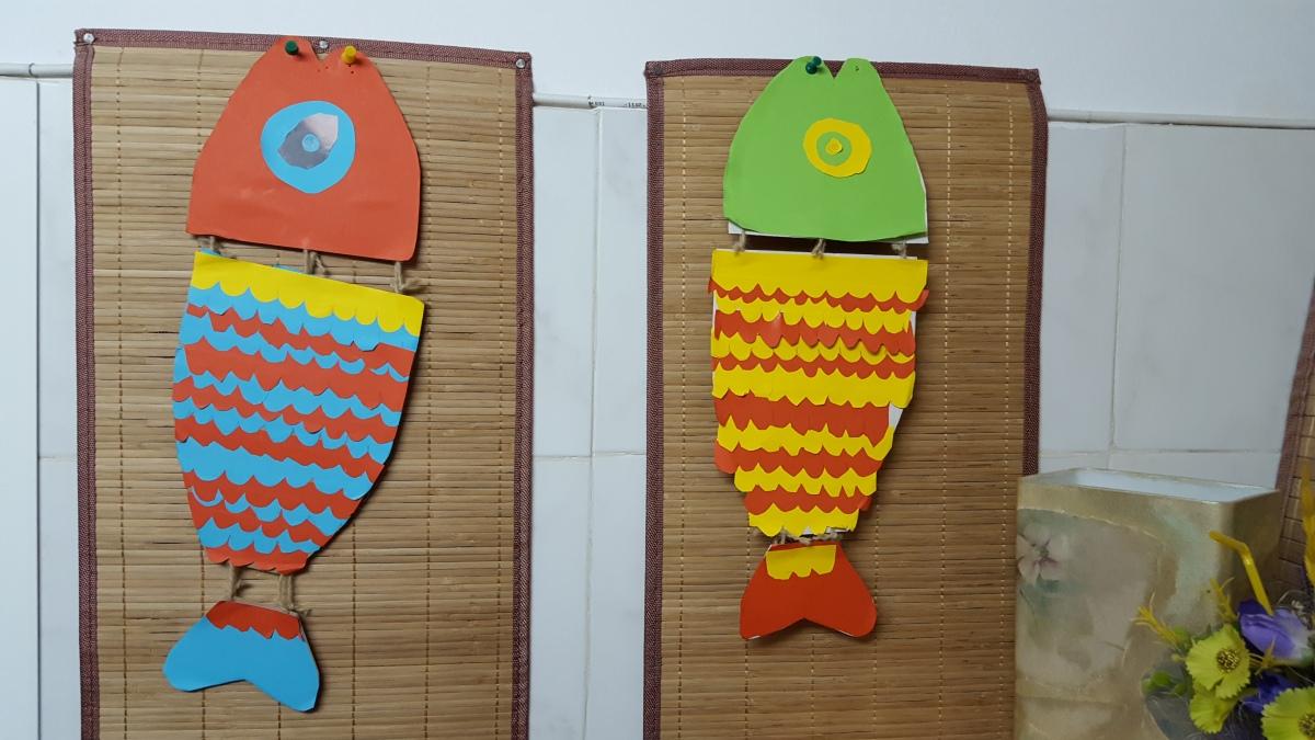 """Снимки и видео на занималня """"Фантазия"""" - Хартиени риби"""