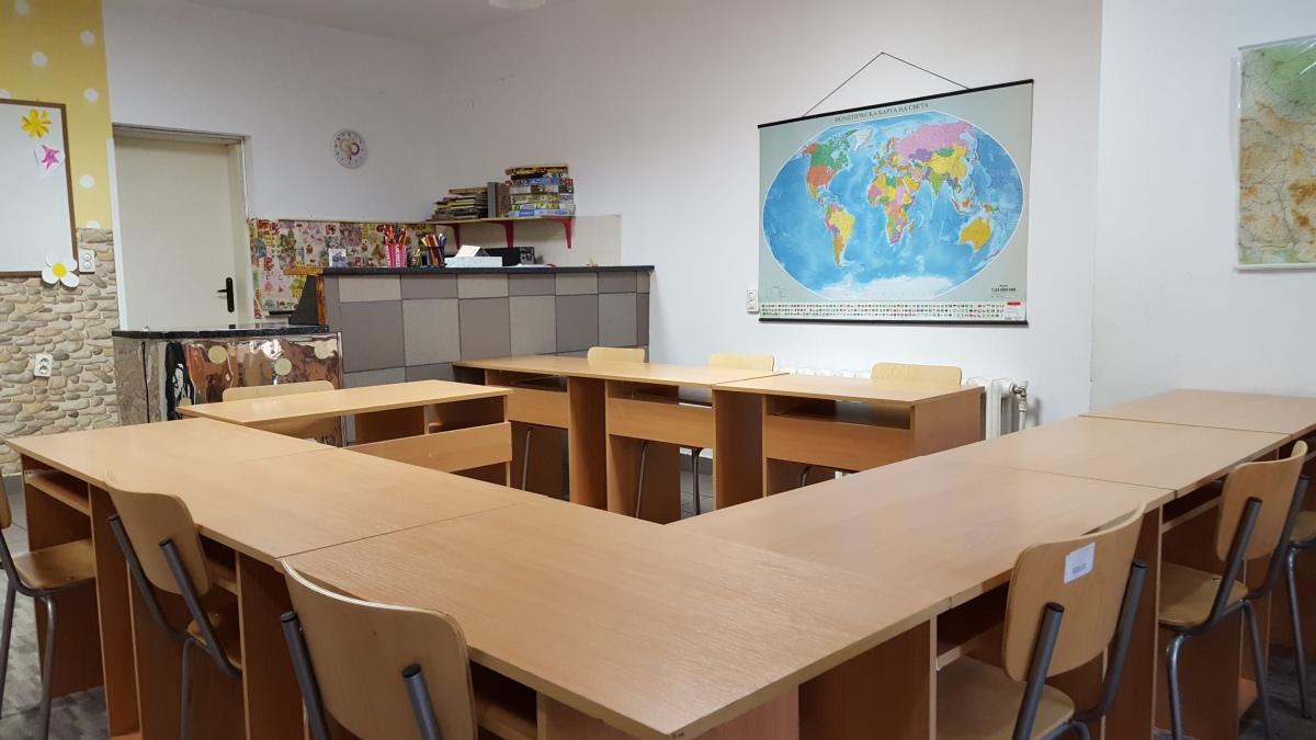 """Снимки и видео на занималня """"Фантазия"""" - Учебна стая с карта на света 2"""